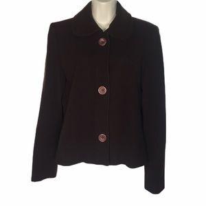 Harve Benard Brown Single Breasted Jacket